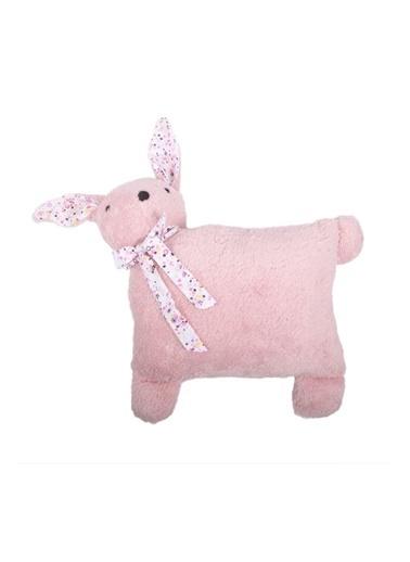 Cigit Cigit Tavşan Figürü Şeklinde Peluş Kırlent Pembe